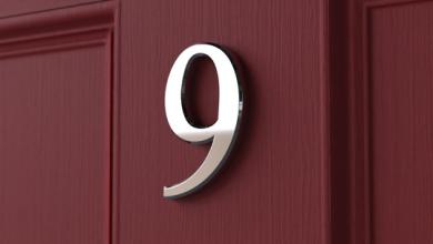 Photo of Adhesive Door Number
